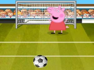 Pepa Pig soccer shoot up