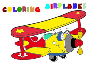 Coloring Book- Airplane